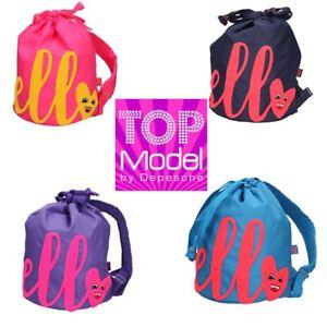 4ea33fb204070 Das Bild wird geladen Depesche-TopModel-HELLO-Rucksack -blau-pink-lila-azurblau-