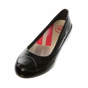 ff59b3b71db Image is loading FITFLOP-DUE-BLACK-PATENT-LEATHER-PLATFORM-BALLERINA-PUMPS-