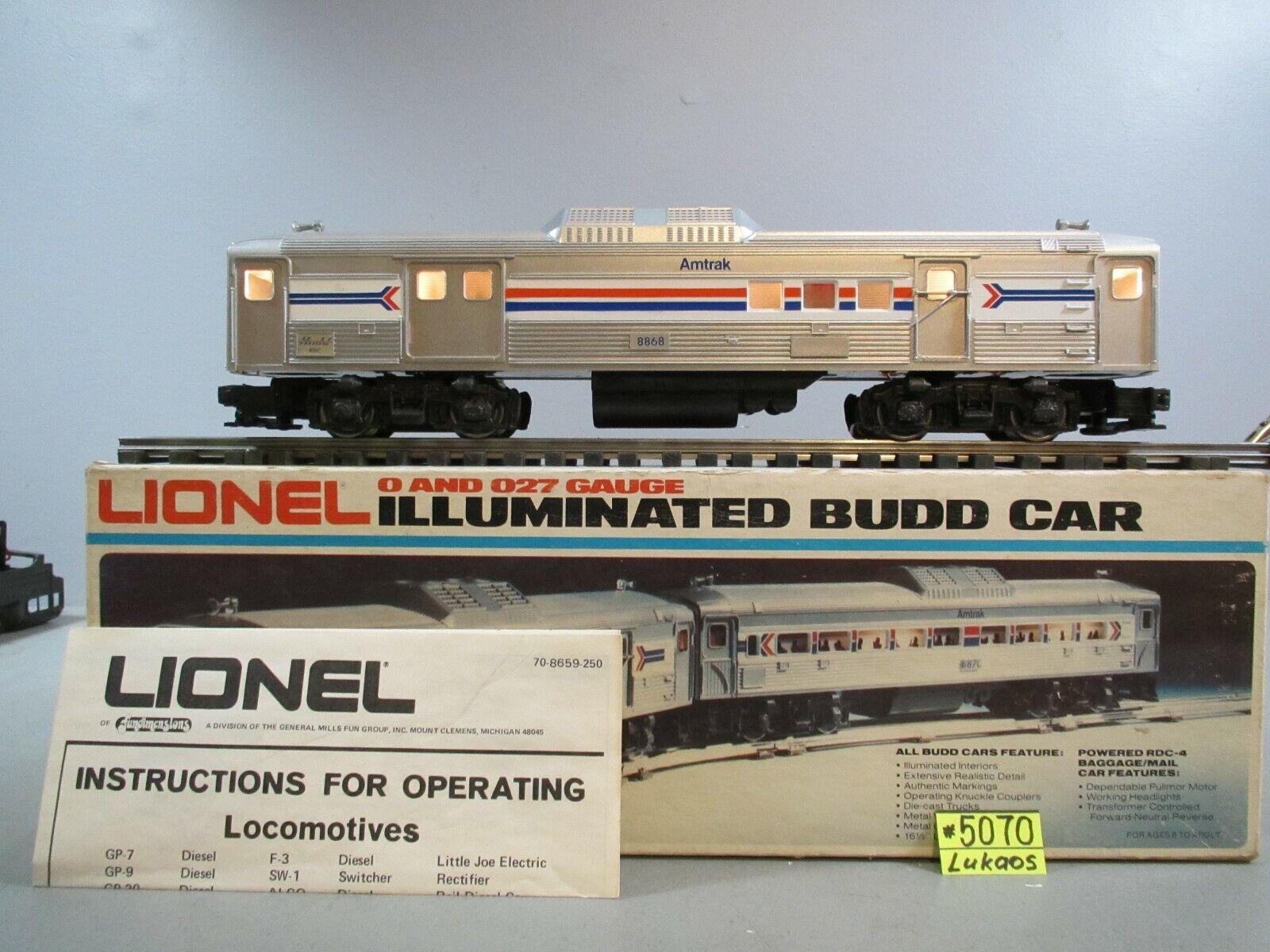 Lionel 68871 AMTRAK DUMMY RDC4 borsaGAGEMAIL O.B.