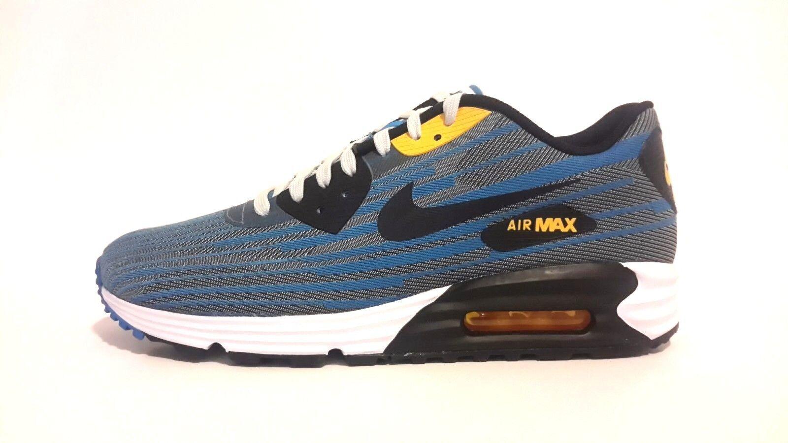 Nike air max 90 leggera nuovi uomini lunare jcrd 654468-001 soda leggera 90 neri foto blu 4aac96
