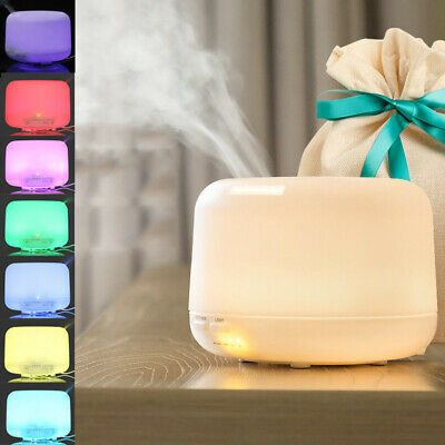 500ML Aroma Diffuser Electric Ultrasonic Air Mist Humidifier Purifier LED Light