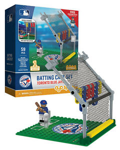 TORONTO BLUE JAYS OYO BATTING CAGE SET WITH 1 FIGURES 59 PIECE TOTAL NEW