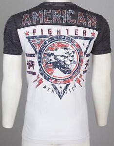 AMERICAN-FIGHTER-Mens-T-Shirt-JONES-Wildcat-WHITE-Athletic-Biker-Gym-MMA-40