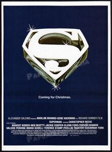 SUPERMAN: The Movie__Original 1978 Trade Print AD / promo__Coming for Christmas