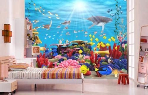3D Meeresfische Natürlich86 Tapete Tapeten Mauer Foto Familie Tapete Wandgemälde