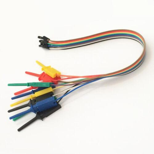 """Gancho de Prueba de 10 canales Clips Multicolor debug analizador lógico 10 vías de alambre 11.8/"""""""