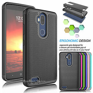 detailed look 45b65 3f64f Details about For ZTE Blade Max 3 / Z986U Phone Case Shockproof Hybrid  Rubber Armor Hard Cover