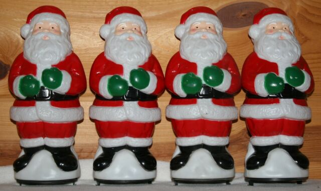 8 Empire Blow Mold Pathway Light Toppers Santa Decorations Outdoor