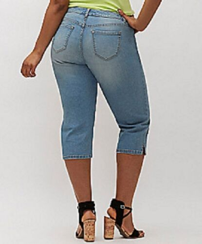 05cbe9ee0b5 3 of 7  65 Lane Bryant Classic Denim Capri Jeans Plus Size 28 4X Zip Fly w   Button