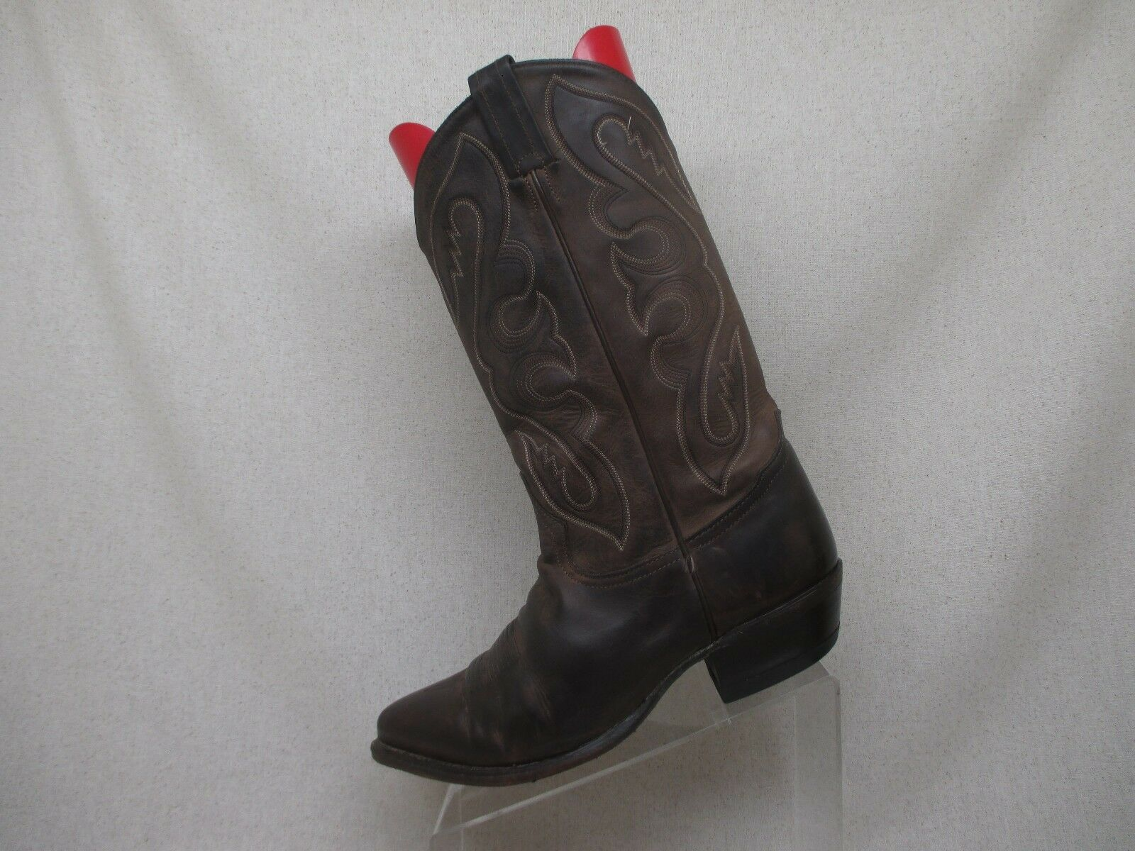 Tony Lama Brown All Leather Western Cowboy Boot Mens Size 10 D Style 6468