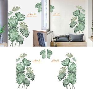 2pcs-45-60cm-Green-Plants-Leaves-Wall-Decals-Nursery-Leaf-Wall-Sticker-Art-Decor