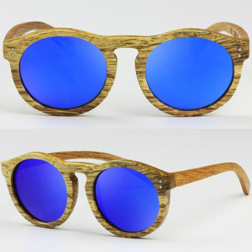 Round Cat eye 100/% Wood Bamboo Natural Frame Keyhole Sunglasses POLARIZED lens
