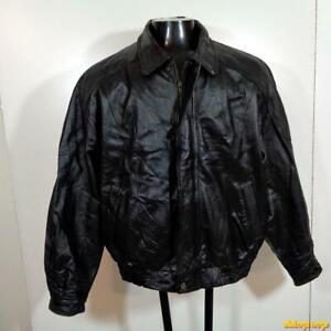 MISTY-HARBOR-Soft-LEATHER-JACKET-Mens-Size-L-Black-insulated-w-liner
