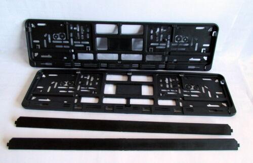 2x Kennzeichenhalter schwarz /& neutral blanco  Kennzeichenhalterung