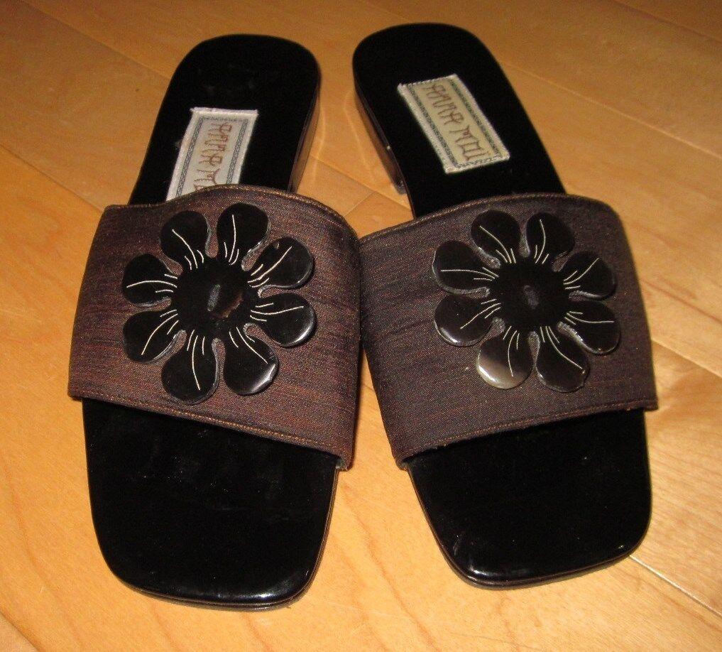 Anna Moi Womens Brown Slip-On Slides Sandals Size 7.5 Cute