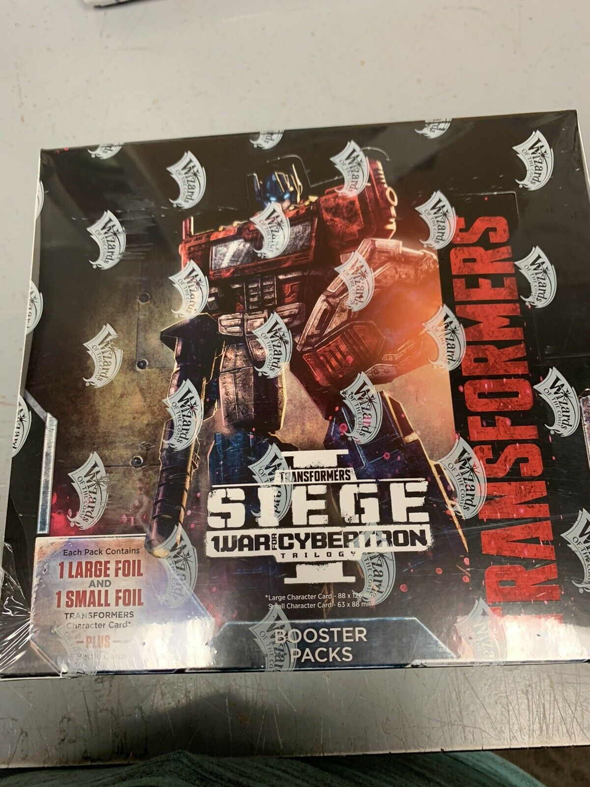 TRANSFORMERS TCG  WAR FOR CYBERTRON  SIEGE BOOSTER scatola IN He
