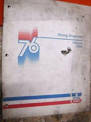 1976 DODGE DART PLYMOUTH VALIANT FACTORY WIRING DIAGRAM ...