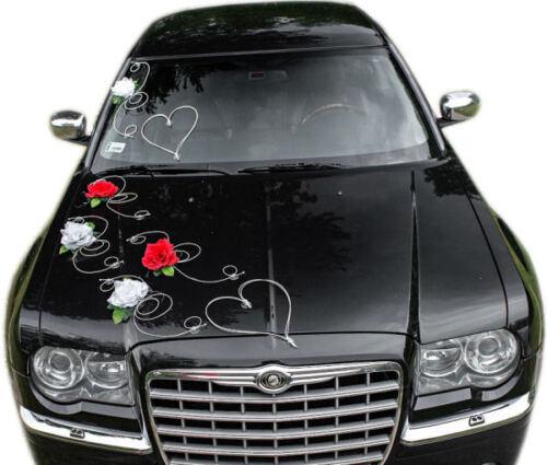 Brautauto Autoschmuck Hochzeitsauto  Autodeko inkl Türgriffschleifen Set Iris