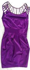 LIPSY Kleid Mini UK8 36 NEU UVP149€ Abend Cocktail Gold Pailletten Satin apart