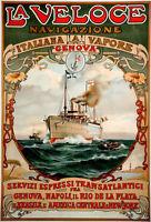 1889 Transatlantic Ocean Liner Photo Print 13x19