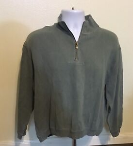 Tommy-Bahama-Green-Pullover-Sweater-Men-Size-XS-Quarter-1-4-Zip-Cotton-Spandex