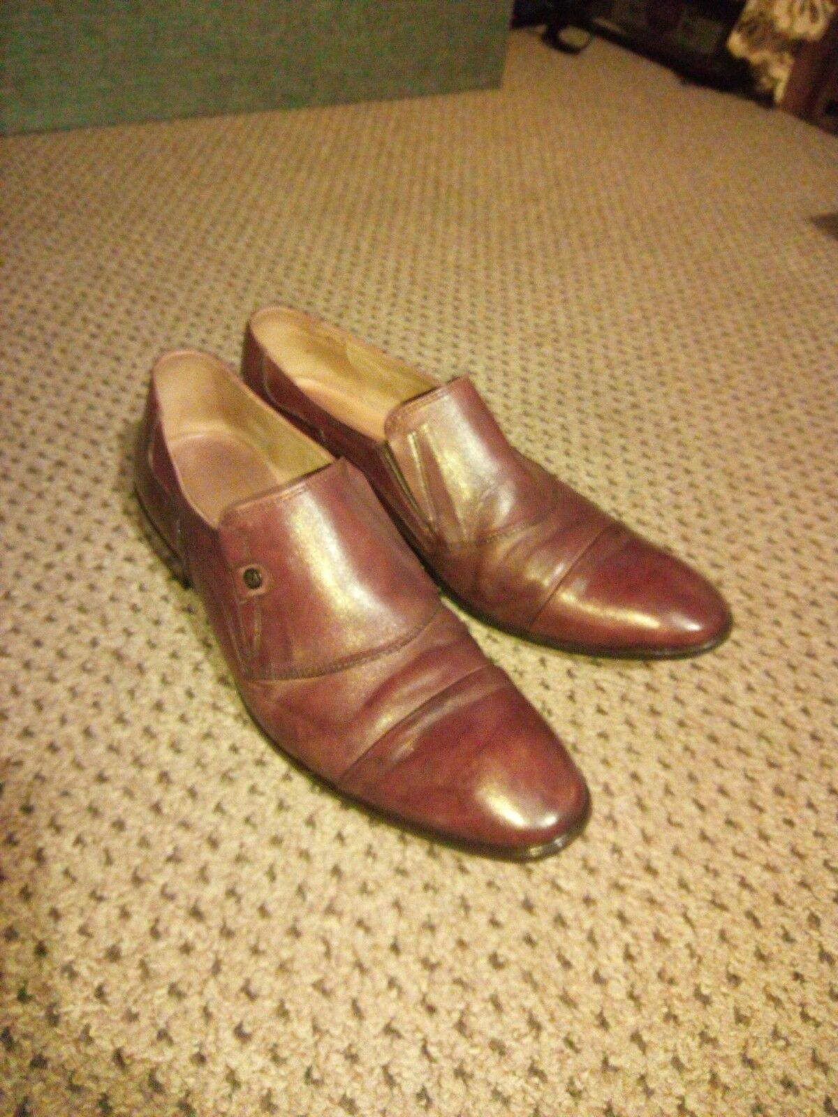 Rossi mens brown leather shoes UK 8 EU 42