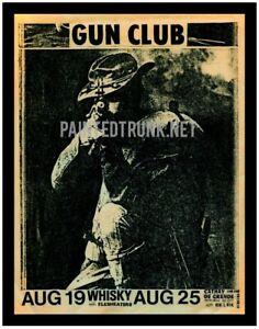pro print vintage 80s gun club whisky LA handbill flyer ad punk music not cramps