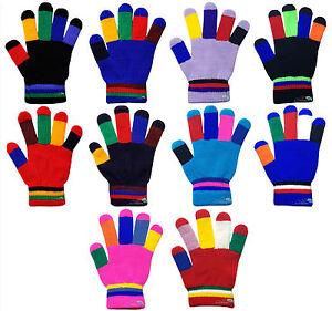vista previa de vívido y de gran estilo varios diseños Detalles de Infantil Niños Guantes Mágicos Colorido Fingers Cálido de  Invierno Talla Única