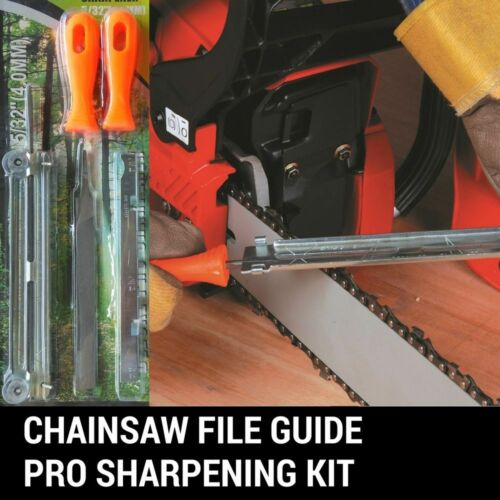 "6 PC CHAINSAW CHAIN SHARPENING FILE GUIDE KITS 5//32/"" SUIT STIHL HUSQVARNA"