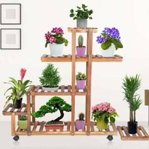 Blumenleiter Holz Pflanzen Pflanzregal Deko Garten Balkon Terrasse Heimwerker