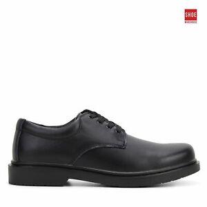 Grosby HAMBURG SNR 2 Black Mens Shoe School Leather School Shoes