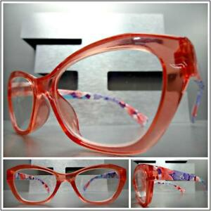 9ff1287d8eb1 Women s Retro Cat Eye Style READING Eye Glasses Pink Readers Floral ...