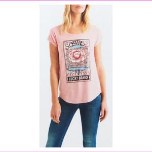Lucky-Brand-Women-039-s-cap-sleeves-Shirt-XL-Peach