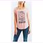 Lucky-Brand-Women-039-s-cap-sleeves-Shirt-XL-Peach thumbnail 1