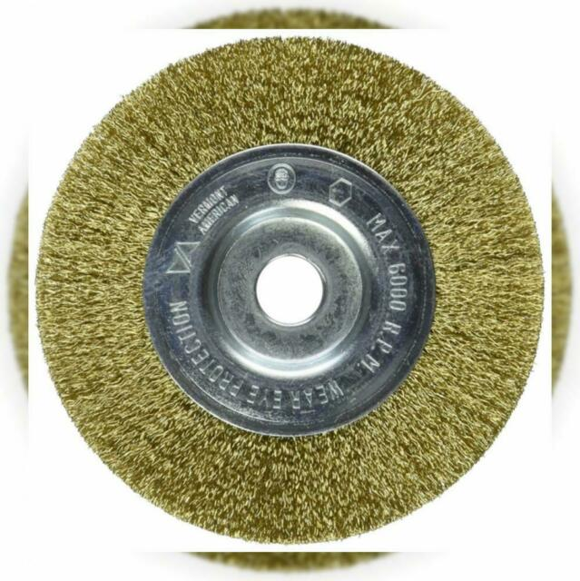 Vermont American 16792 3-Inch Fine Brass Wire Wheel Brush with 1//4-Inch Hex Shank for Drill by Vermont American