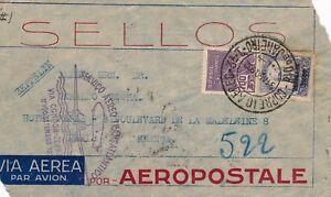 Lettre-Via-Condor-Zeppelin-1932-Servico-Aero-Transatlantico-Cover-Brief-Brazil