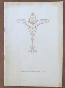 KAISERIN AUGUSTE VICTORIA (Hamburg American) 1907