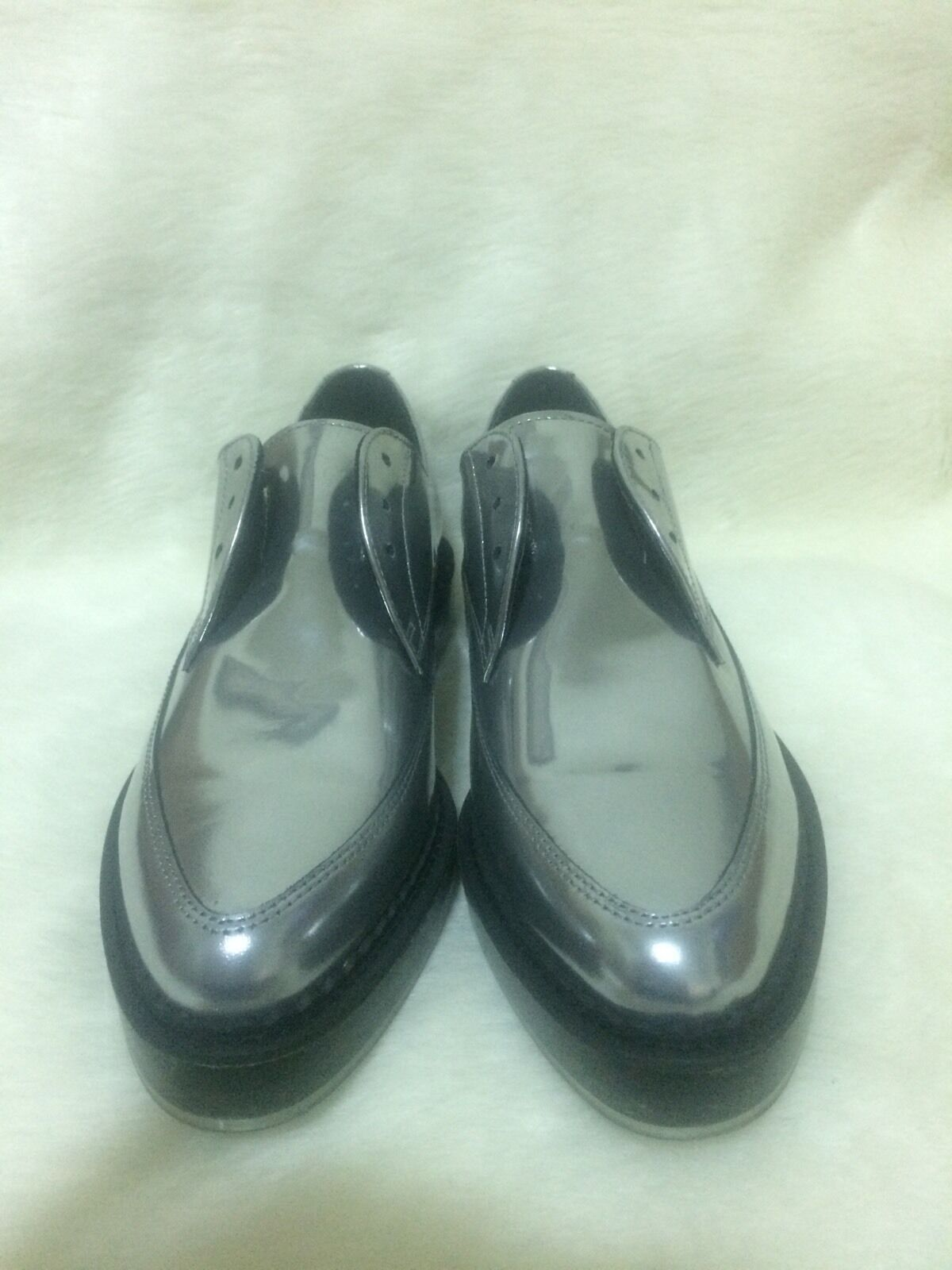 Diesel Kalling Oxford Casual Dress Silver Leather Shoes 295