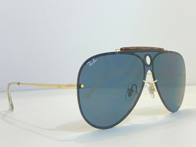 Authentic Ray-Ban RB3581N 00171 Blaze Shooter Gold Green Classic Sunglasses $225