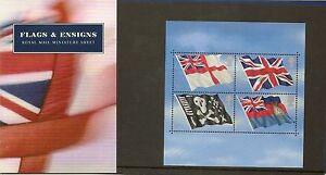 GB-Presentation-Pack-M06-2001-Flags-amp-Ensigns-Stamps-Miniature-Sheet