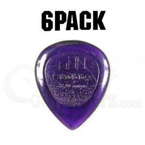Jim-Dunlop-Stubby-Plectrum-Players-Pack-6-Pack-3mm-Dark-Purple