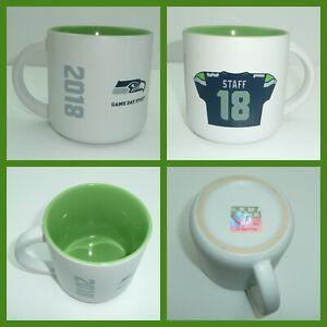 RARE-Seahawks-Game-Day-Staff-Coffee-Mug-Cup-2018-NFL-Football-Green-18-Jersey