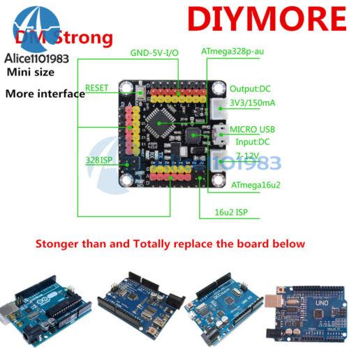 Micro USB DM Strong Mini UNO R3 Board ATmega328 ATmega16U2 With Usb Cable