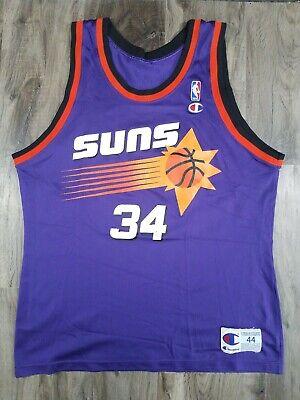 S XXL New Phoenix Suns #34 Charles Barkley Basketball Purple Jersey Size