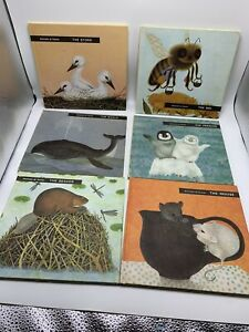 Animals at Home book lot -  Stork, Bee, Whale, Mouse, Beaver, Penguin