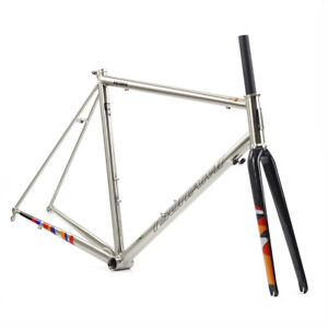 Chrome-CR-MO-Steel-Road-Bike-Frame-Carbon-Fork-700C-Classic-Frameset-TSUNAMI