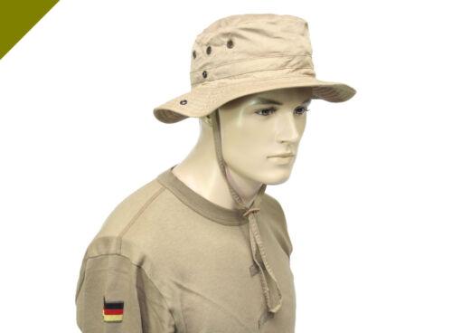 ORIGINAL BUNDESWEHR TROPENHUT KHAKI MÜTZE HUT KAPPE SCHUTZ BW NATO ANGELN JAGEN