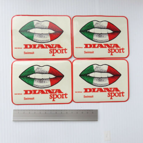 'Diana Sport' swimming stickers from the 1980's X 4