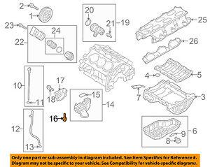hyundai oem 10-15 genesis coupe 3.8l-v6 bomba de Óleo do motor-bolt  1140308406k   ebay  ebay