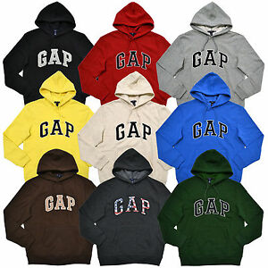 Gap Hoodie Mens Pullover Sweatshirt Fleece Lined Applique Arch ...